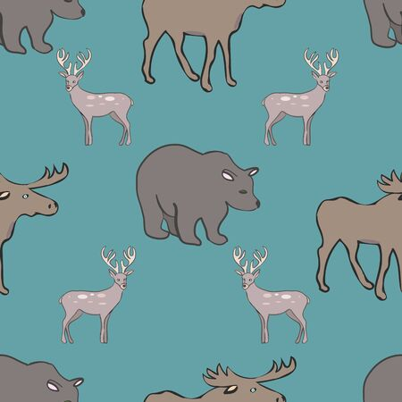 Wonderful Wilderness Canadian Collection Repeat Pattern Vector Print. A cute pattern for any surface.