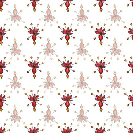Garden Floral Butterfly Collection Repeat Pattern Vector Print. Spring and Summer Collection.