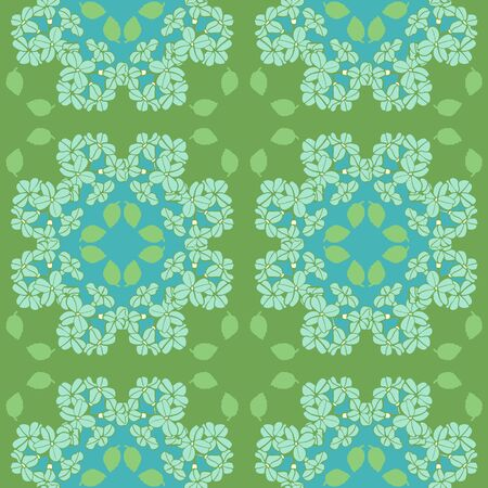 Blue Hydrangea Repeat Pattern Seamless Vector Print