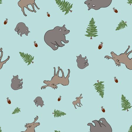 Oh Canada Wilderness Collection Repeat Pattern Vector Print. A cute pattern for any surface.