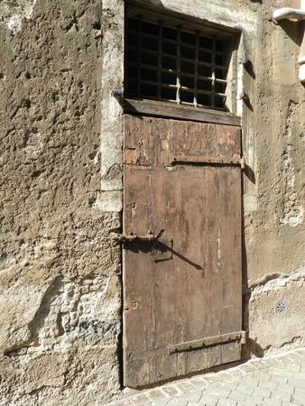 Ancient wooden door in Rome
