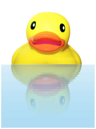 Surprised Ruber Ducky Stock Photo - 8130721