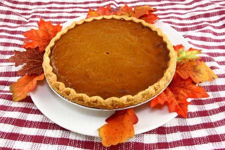 Thanksgiving pompoen taart  Stockfoto