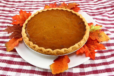Thanksgiving Pumpkin Pie  Stock Photo