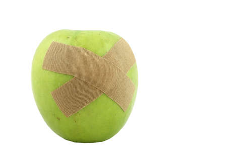 Health Care Concept Apple with Bandage