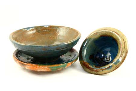 Three Handmade Clay Pots