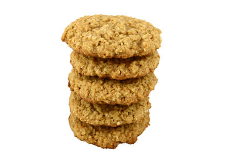 Tower of Oatmeal Cookies Stock Photo