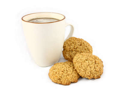 Oatmeal Cookies and Mug of Hot Tea