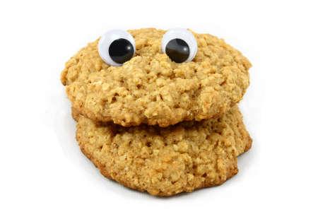 oatmeal: Cara de Cookie de avena con ojos de ondulaci�n