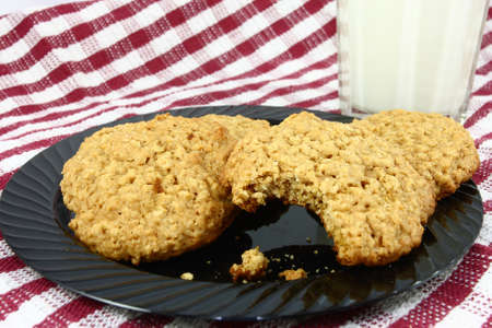 Cookies and Milk Stock Photo