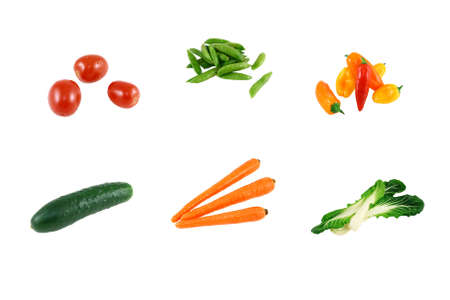 Assorted Fresh Vegetables Isolated On White Stock Photo