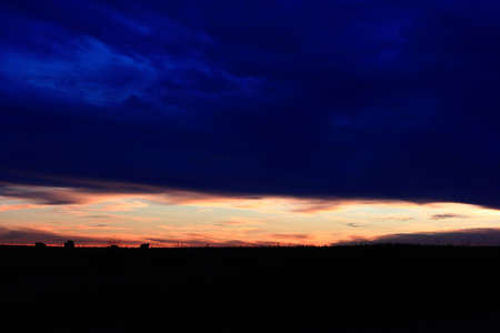 Blue And Pink Prairie Sunset
