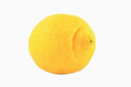 One Yellow Lemon Isolated On White