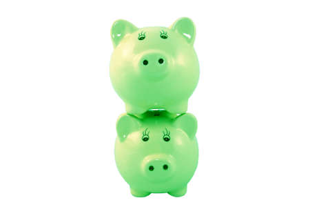 Stacked Piggy Banks Series - Green