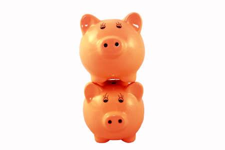 Stacked Piggy Banks Series - Orange