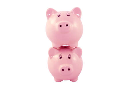 bank accounts: Stacked Piggy Banks Series - Pink