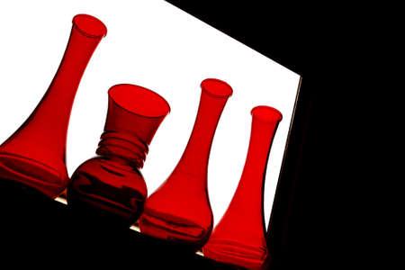 Vier Rode Vazen