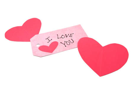 Handmade Valentine Hearts And I Love You Tag photo