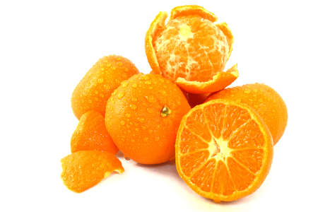 Mandarin Oranges Isolated On White Stock Photo - 12338808