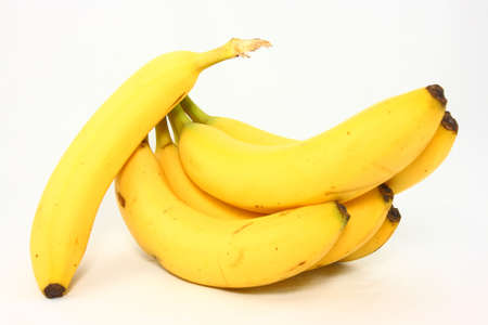 Yellow Bananas On A White Background