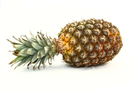 Fresh Pineapple Laying On Side