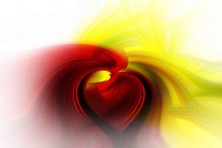 background abstracts: A Red And Yellow Abstract Art Kissing Design