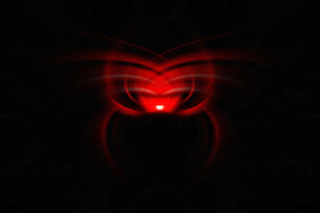 swirling: Black And Red Spider Like Abstract Art