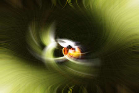 A Green Abstract Art Image With A Tiny Seed Of Color