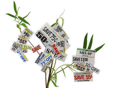 Grocery Coupons On A Tree Stock Photo - 14551384