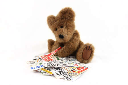 Teddy Bear With Grocery Coupons Stock Photo - 14551420