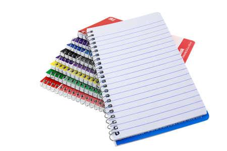 Een Stapel Van spiraal notebooks met blanco pagina