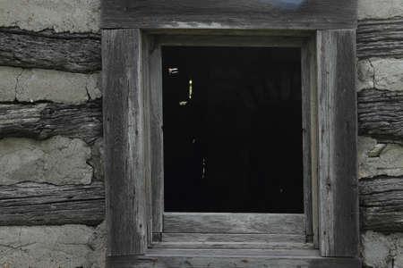 restored: Window Of Restored Log Cabin