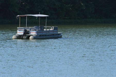 Empty Boat On Lake Stock Photo