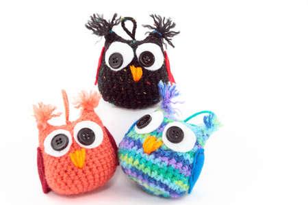 Drie schattige Handmade Owls