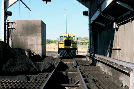 coal fired: Railway Machinery at a Coal Fired Power Plant