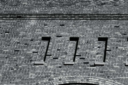 brickwork: Brickwork of A 100 Year Old Hand Built Brick Building Stock Photo
