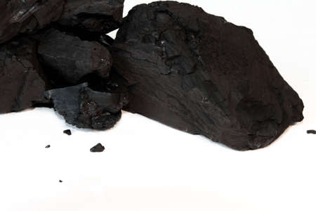 coal fired: Sub-Bituminous Coal Isolated on White Stock Photo