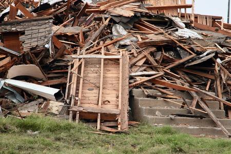 rubble: Debris And Rubble After Building Demolition Stock Photo