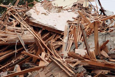 desolation: Piles Of Lumber And Other Demolition Debris