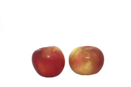 Two Fuji Apples On A White Background