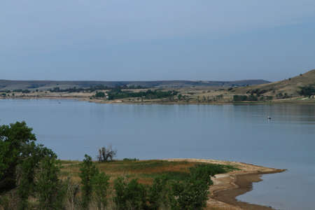 Lake Wilson In North Central Kansas Stock Photo