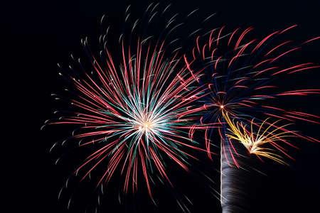 Many Large Firework Explosions photo