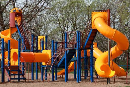 Empty Childrens Playground Stock Photo