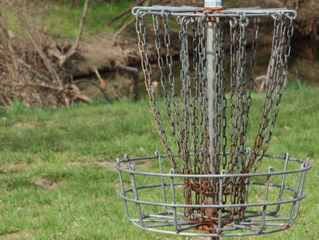 Frisbee Golf Target Stock Photo