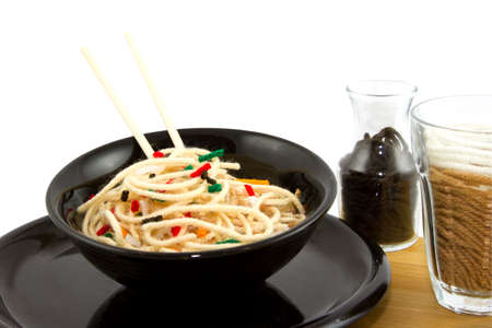 Artificial Food Asian Style Noodles Created With Yarn