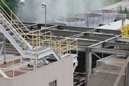 Stoom stijgen van een kolencentrale