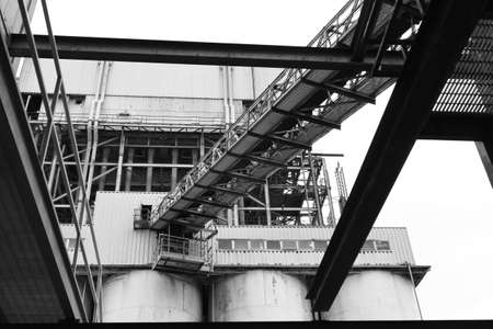 Looking Up At Industrial Structures