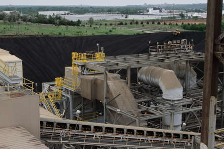 combustible: Conveyer Belt And Other Coal Yard Equipment