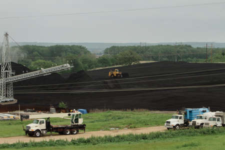 Heavy Equipment And Coal Yard Stock Photo