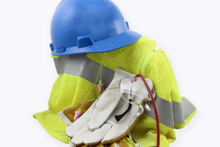 protective: Personal Protective Equipment In a Pile